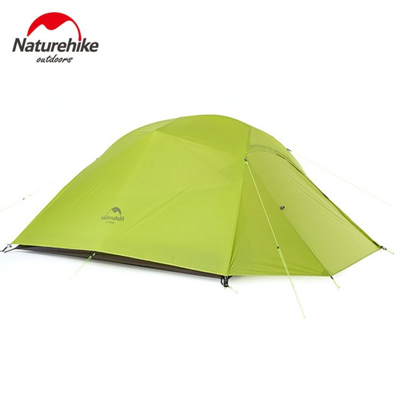 Naturehike ultralight 3 person tent outdoor camping snow skirts tent waterproof large capacity tents with camping mats