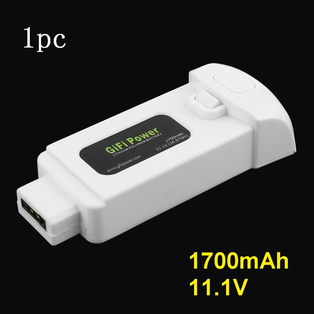 Gifi Power 11.1V 1700mAh 18.87Wh Lithium Polymer Battery for Yuneec Breeze Drone Lightweight Replacement Power for Flying Camera
