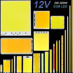 DC12V COB LED Light Strip Panel 5W 10W 20W 50W 200W 300W LED Bulb White Blue Red Flip Chip COB Lamp DIY House Car Lighting 12V