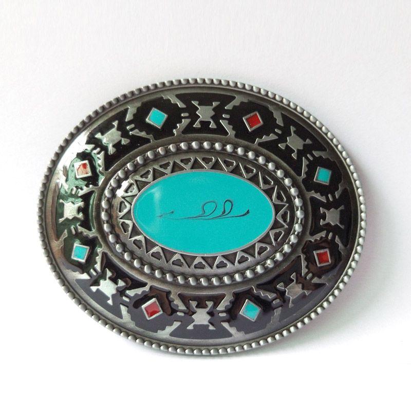 Boucles de ceinture fraîches en laiton occidental de T-DISOM boucles en métal de CowBoy appropriées à la livraison directe de ceinture de largeur de 4 cm