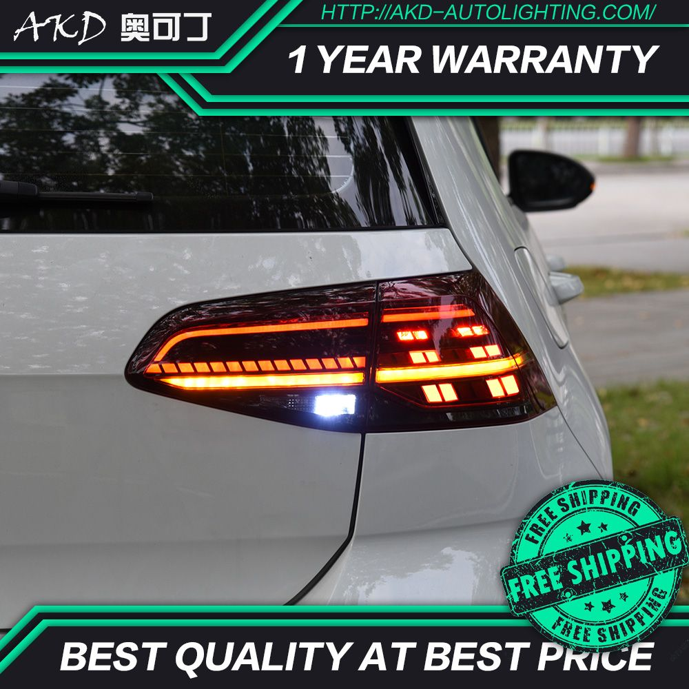 AKD tuning autos rückleuchten Für VW Golf 7 Golf MK7 Golf 7,5 Rückleuchten LED DRL tagfahrlicht Nebel lichter engel augen Hinten parkplatz