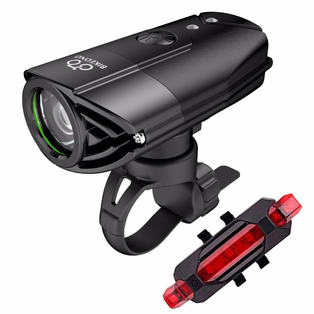 BIKEONO 1200 Lumens vélo lumière vélo phare LED feu arrière USB Rechargeable lampe de poche vtt cyclisme lanterne pour lampe de vélo