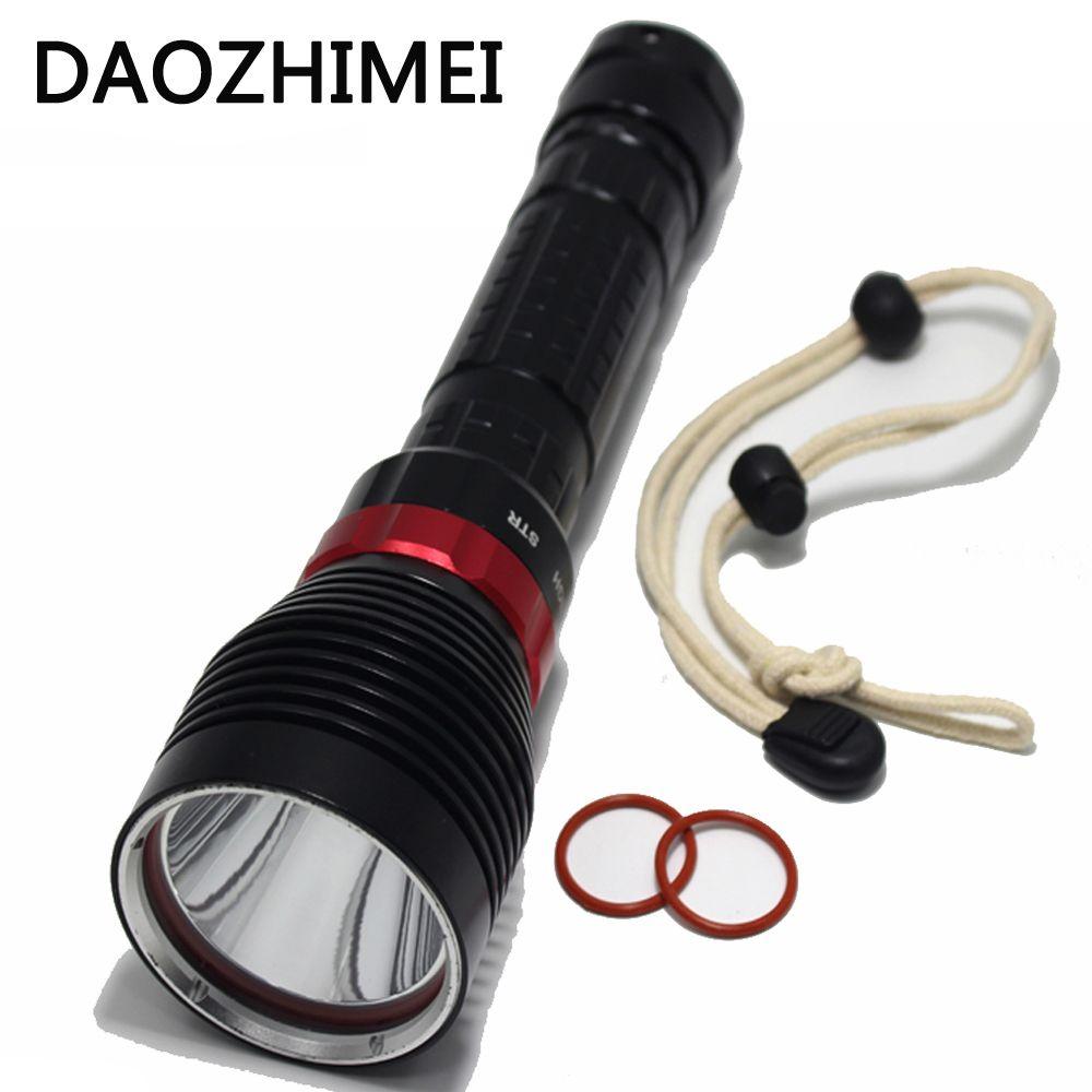 3800 Lumen LED Underwater Diving FlashlightXM-L2 Aluminum Alloy Waterproof Diving  Underwater Lamp Torch Flash Light + Battery c