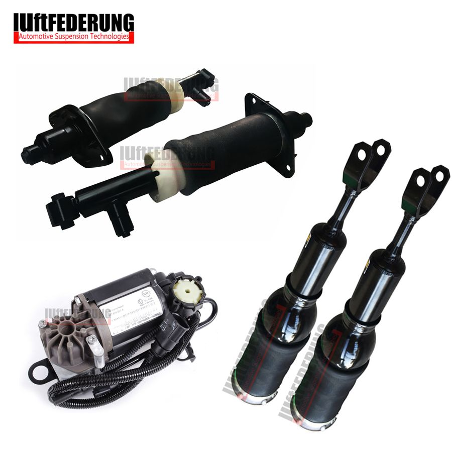 Luftfederung 5PCS Rear Air Ride Air Compressor Front Air Spring Fit Audi A6 C5 4Z7616051A(51B) 4Z7616007 4Z7513032A(32B)