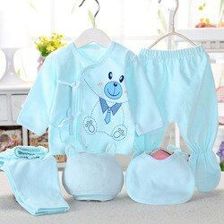 Bekamille Newborn baby sets ( 5pcs/set) infant underwear set unisex clothing suit more 20 styles