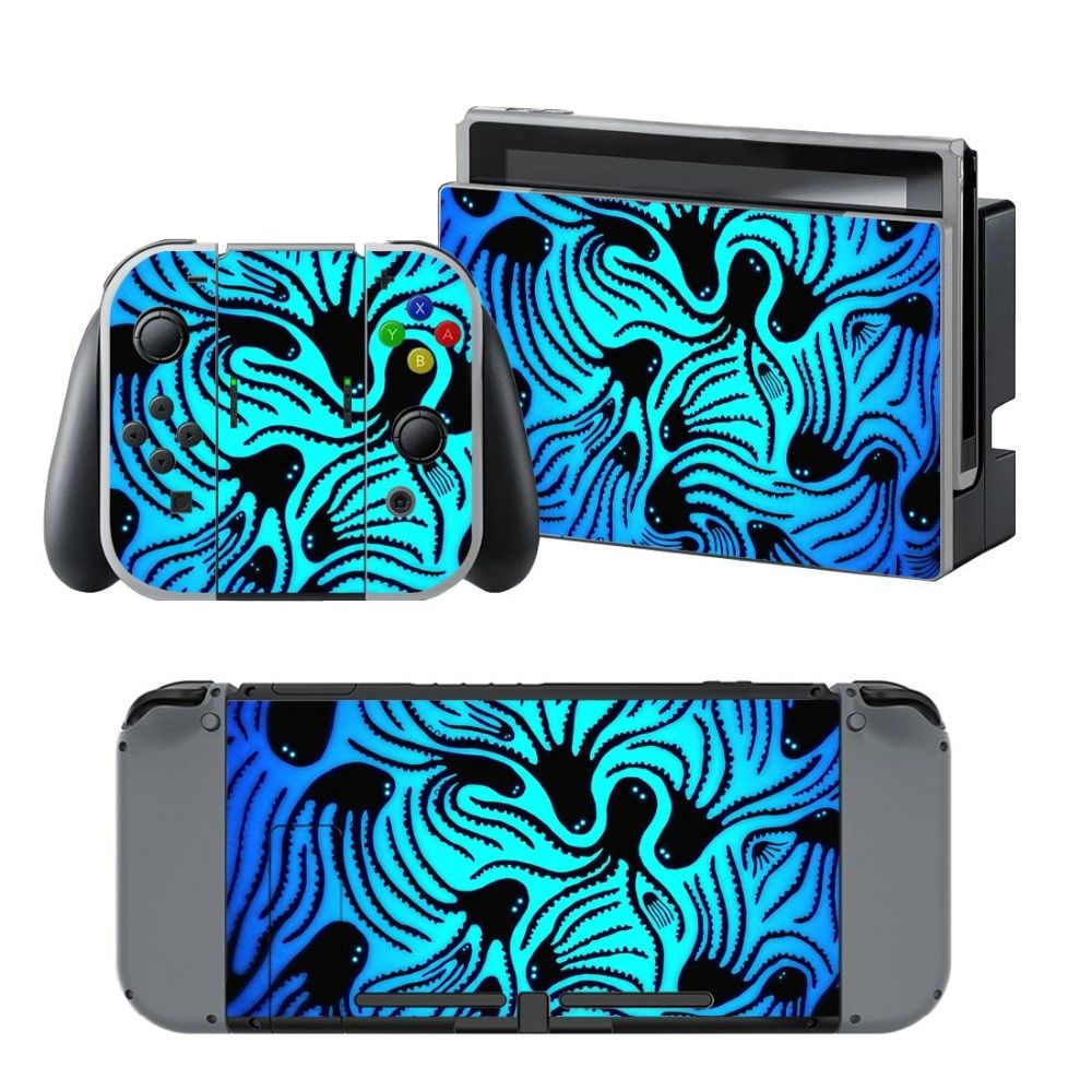 NS NX Accessories Vinyl Skin Sticker for Nintendo Switch Console Protector Cover Decal Vinyl Skin for Skins Stickers 0055