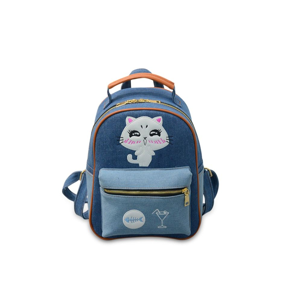 4171P eric women canvas backpack preppy style school Lady girl student school laptop bag