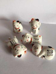 Новый 5 шт. набор Кухня Керамика палочками держатель для отдыха благоприятный кошки
