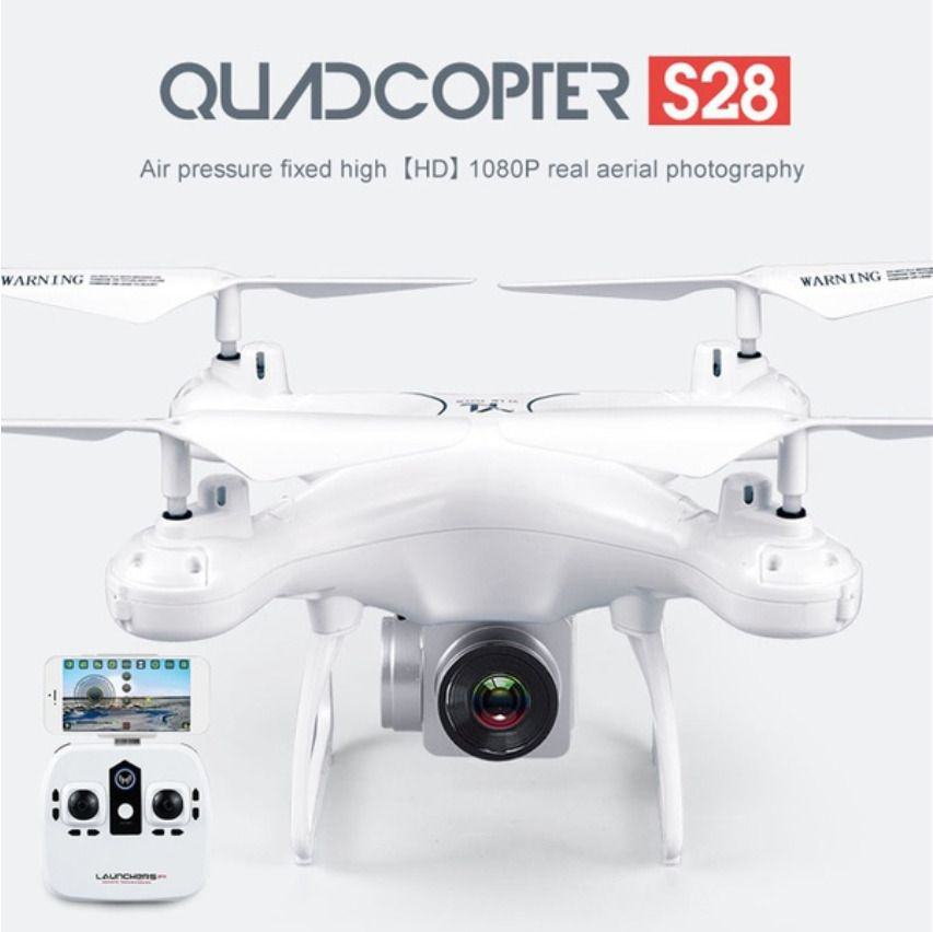 S28 RC Drone with Camera 1080P HD 2.4G Selfie Quadcopter Aircraft Wifi FPV Altitude Hold Headless 3D Flip 18min Long Flight