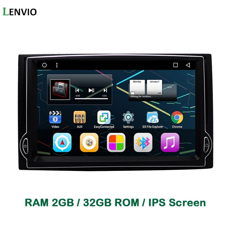 Lenvio IPS RAM 2GB+32GB Quad Core Android 6.0 CAR DVD GPS Navigation Player For Hyundai H1 2007 2008 2009 2010 2011 2012 Radio