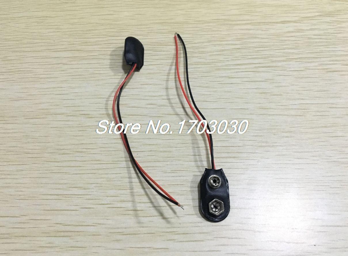 1000 stücke 9 Volt 9 V Batterie Snap-on Clips I Typ Mit 120mm Anschlusskabel