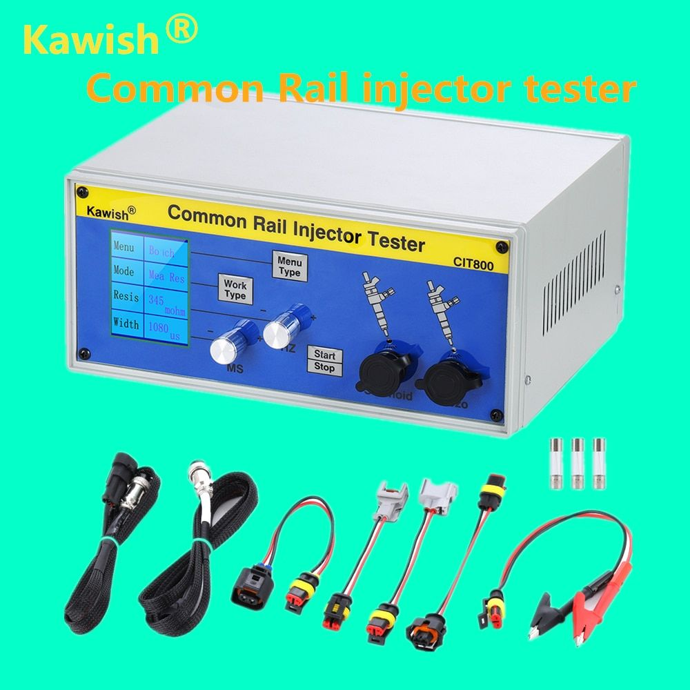 Latest upgrade large LCD CIT800 diesel common rail injector tester diesel Piezo Injector tester electromagnetic injector driver