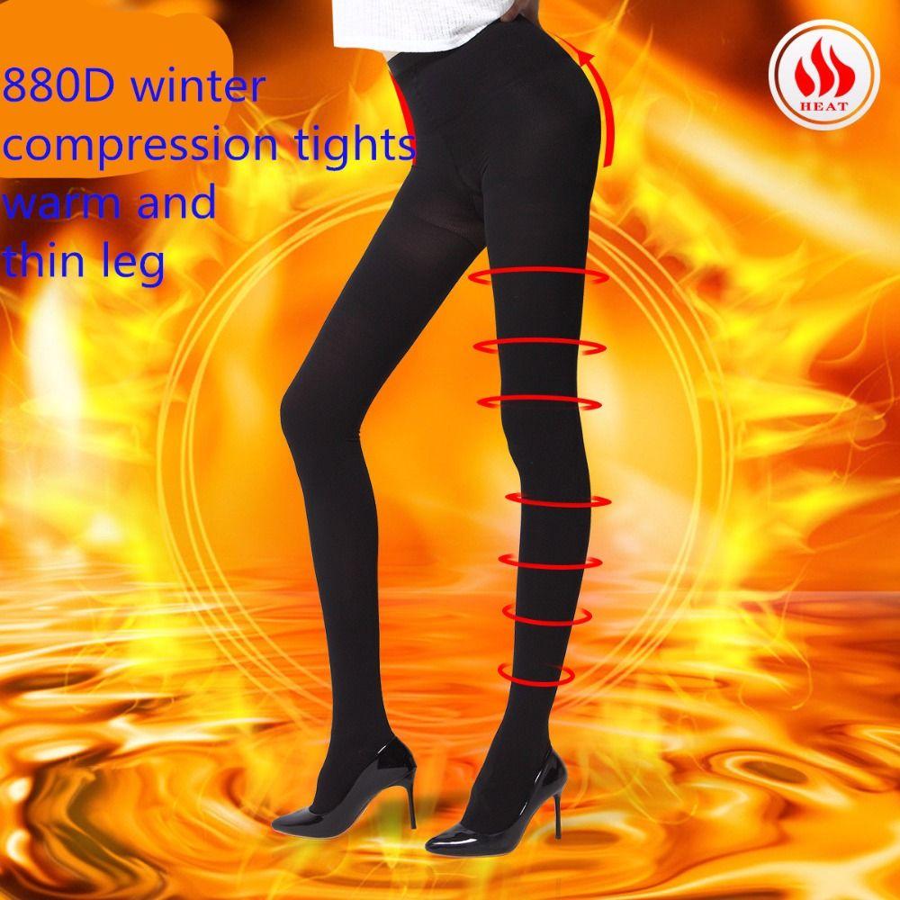 2017 lgfd1017 Женщины Тонкий теплая зима флис толщиной 20 мм Hg компрессионные колготки