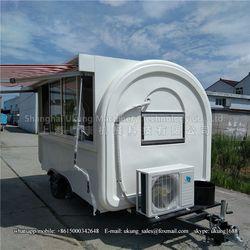 Ukung nuevo diseño venta de alimentos Carro con cuatro piezas de vidrios corredizas ventana de servicio tirado por SUV o coche Sedán