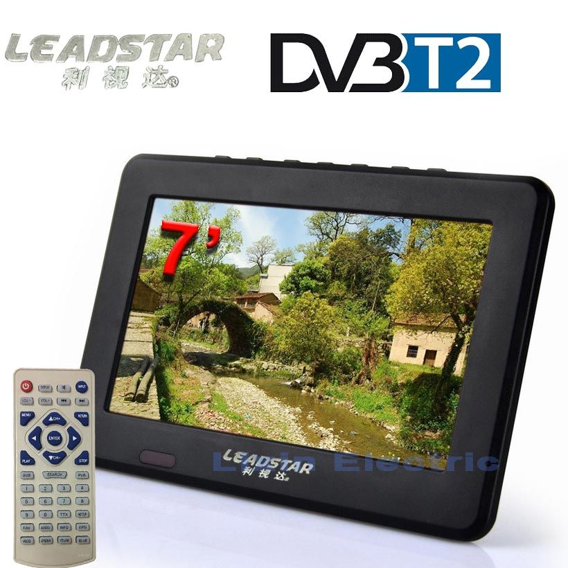 LEADSTAR Digital HD TV 7 Inch DVB-T2 TV And Analog Television Receiver support TF Card And USB Audio And Video Playback DVB-T TV