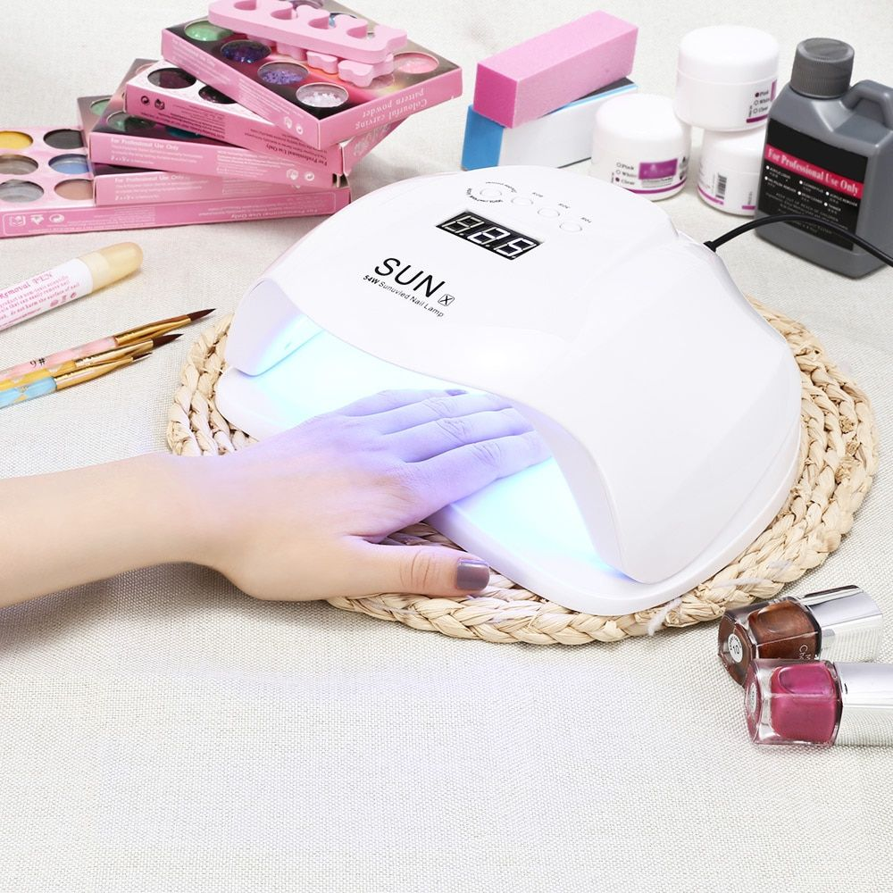 SUN UV LED Lamp 4 Time Modes Nail Dryer Lamp for Gel Manicure Light Drying Nail LCD display 36 LEDS 48/54W Auto Sensing Machine