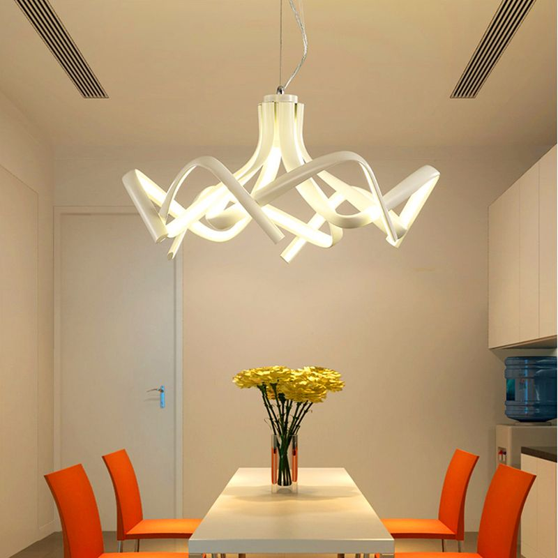 Postmodern Creative Led Lustre Acrylic Aluminum Chandeliers For living Room Bedroom New Chandelier Dimmable Modern Fixtures