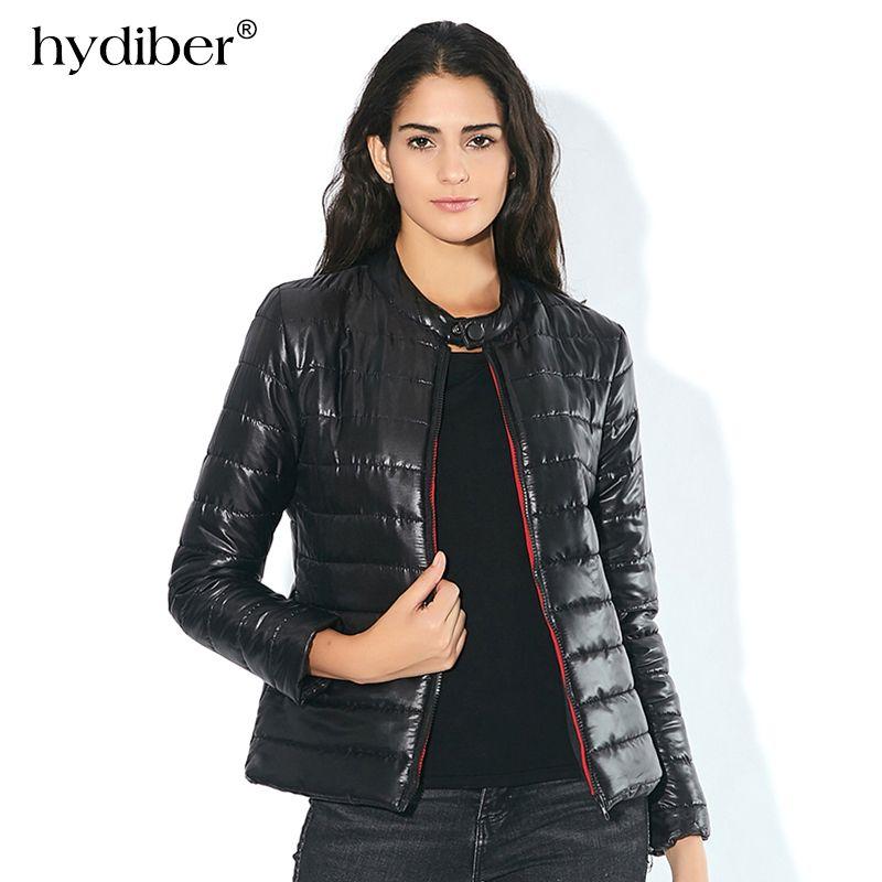 2017 New Fashion Winter Spring Cotton Coat Short Slim Padded Warm Casual Women Jacket <font><b>Black</b></font> Outwear Thin Female Clothes