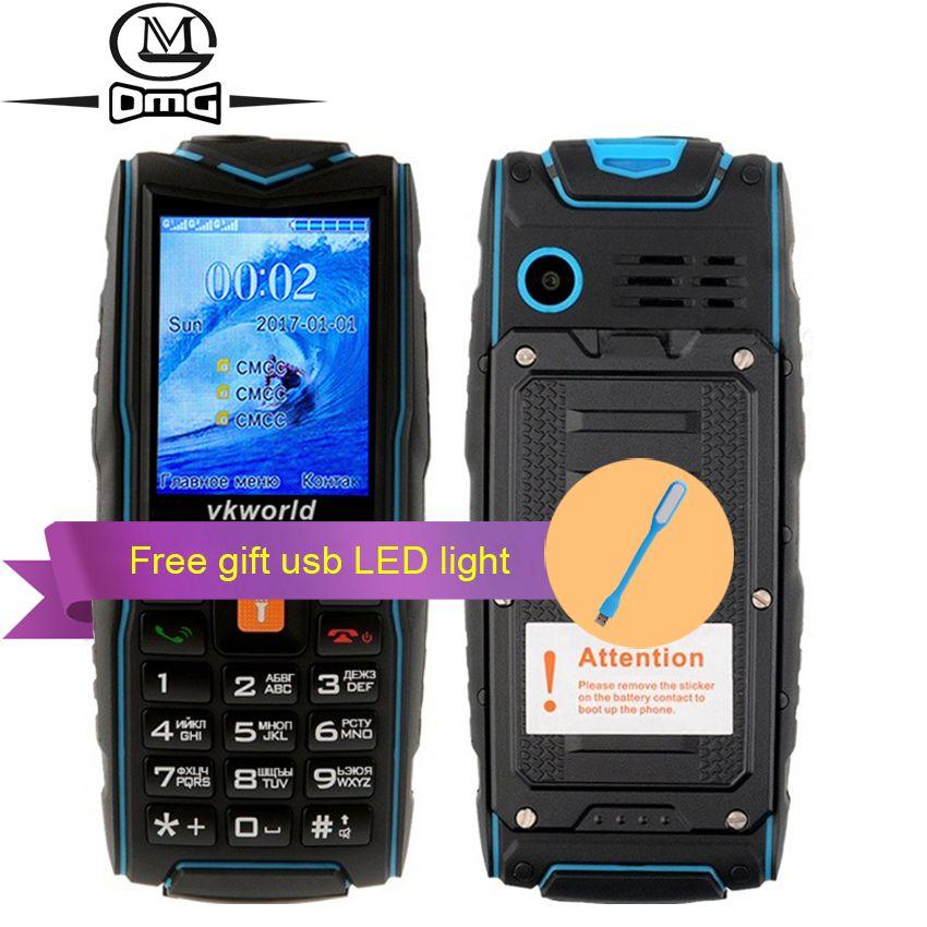 Russian keyboard IP68 waterproof shockproof Mobile phone 3000mAh battery 3 SIM FM flashlight outdoor cell phones VKworld V3