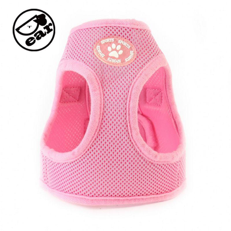 Verstellbare Weiche Nylon Mesh Kleine Hundegeschirr Weste Schritt-in Atmungs Pet Katze Gürtel Kragen & Leine Spazieren Sicherheit Kleidung