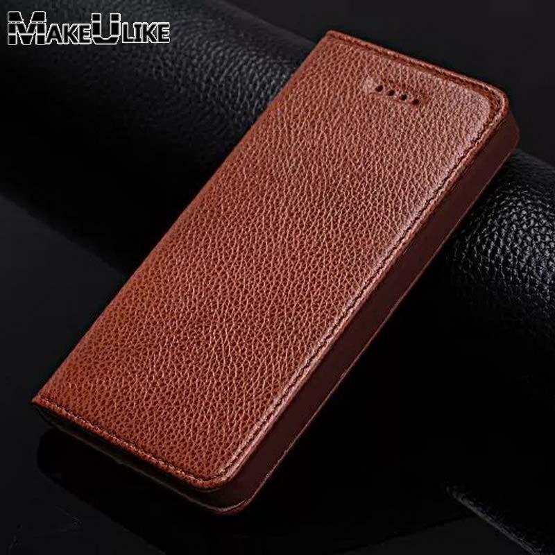 MAKEULIKE Véritable Étui En Cuir Pour Iphone 5 5S Cas pour L'iphone SE Couverture De Luxe Protection Magnétique Coque Pour Iphone 4 4S Cas
