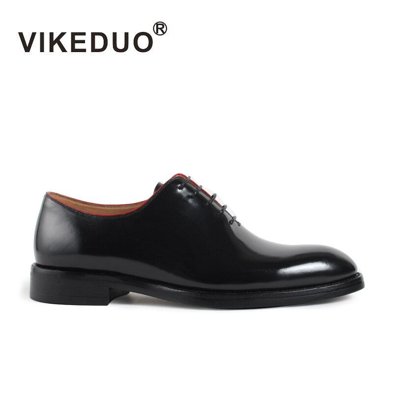 Vikeduo 2018 Handmade Brand Italy Shoes Fashion Blake Wedding Party Office Male Dress Shoe Genuine Leather Mens Oxford Zapato