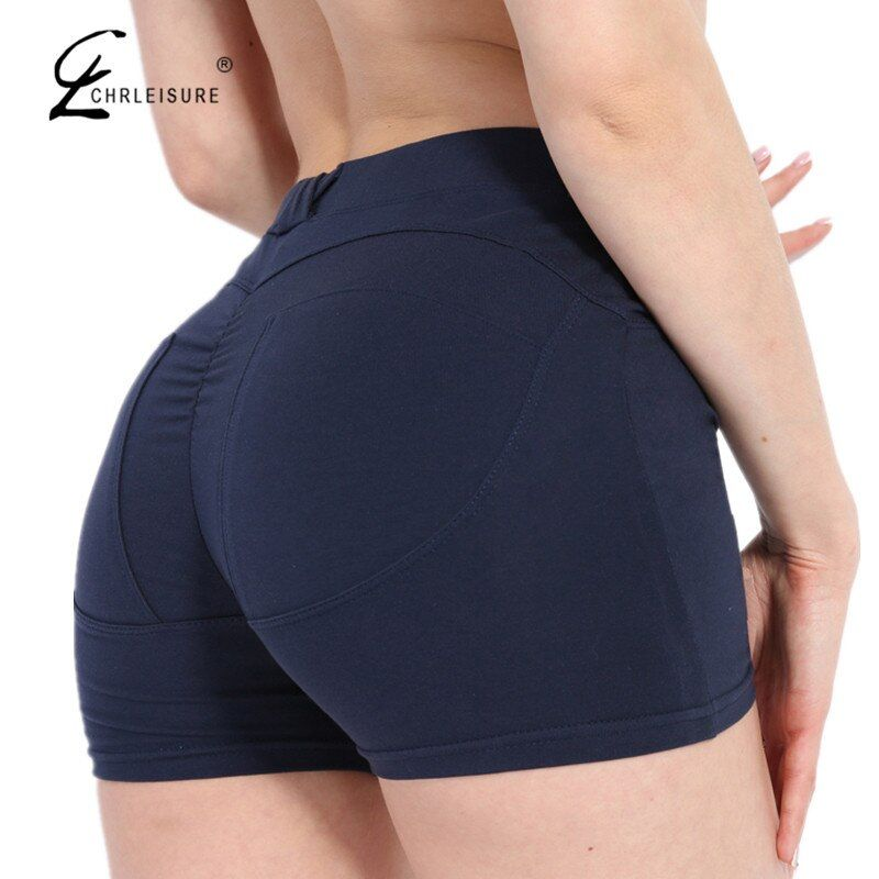 CHRLEISURE S-XL 3 Colors Sexy High Waist Shorts Women Summer Cotton Push Up Hip Fitness Women Shorts Skinny Shorts Mujer 2017