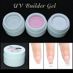 1 PC Gel Uv Rose Blanc Clair Transparent 3 Options de Couleur Nail Art Conseils Gel Manucure Extension