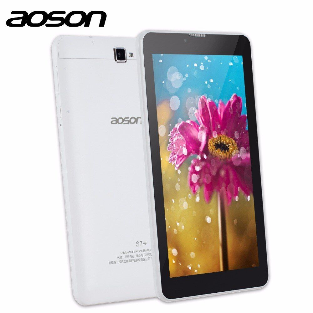 3G Phablet Aoson S7+ 7 inch Tablet PC 16GB+1GB IPS Android 7.0 Quad Core Dual Cam Phone Call Tablets GPS Bluetooth 7 8 10 10.1