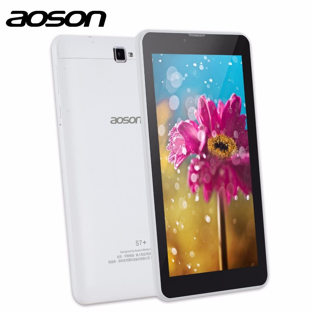 3G Phablet Aoson S7 + 7 zoll Tablet PC 16 GB + 1 GB IPS Android 7.0 Quad Core Dual Cam Anruf Tabletten GPS Bluetooth 7 8 10 10,1
