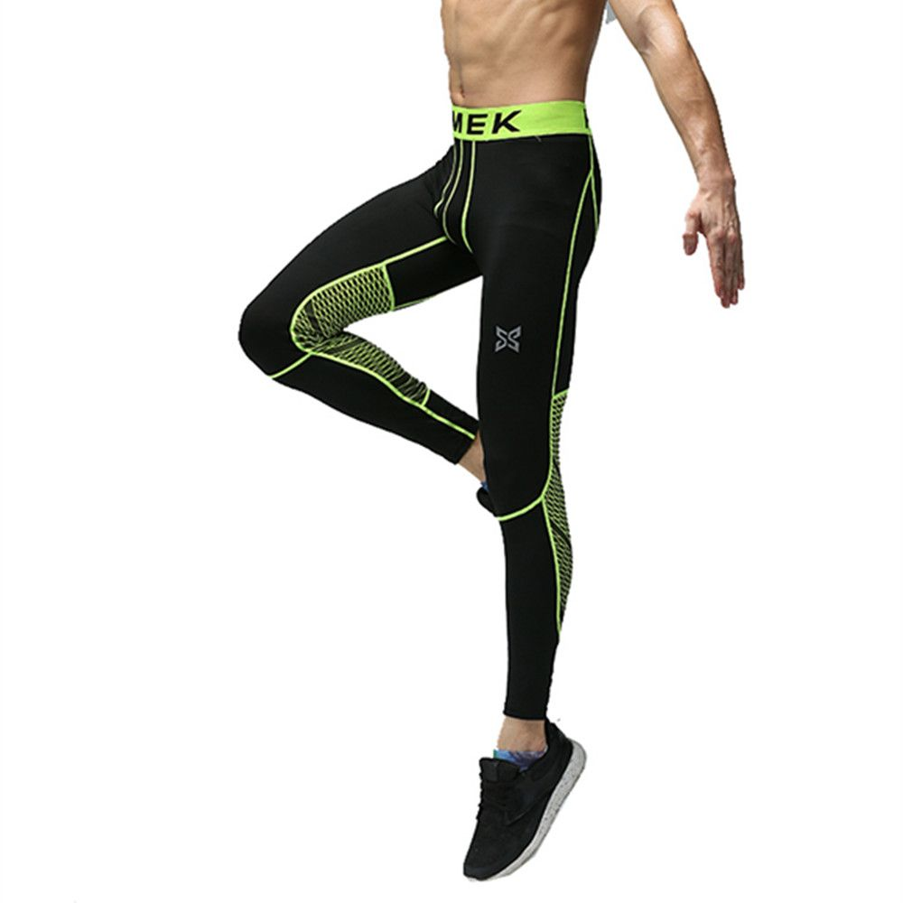Men compression base layer leggings sports running tights skinny gym fitness basketball football soccer training pants trousers