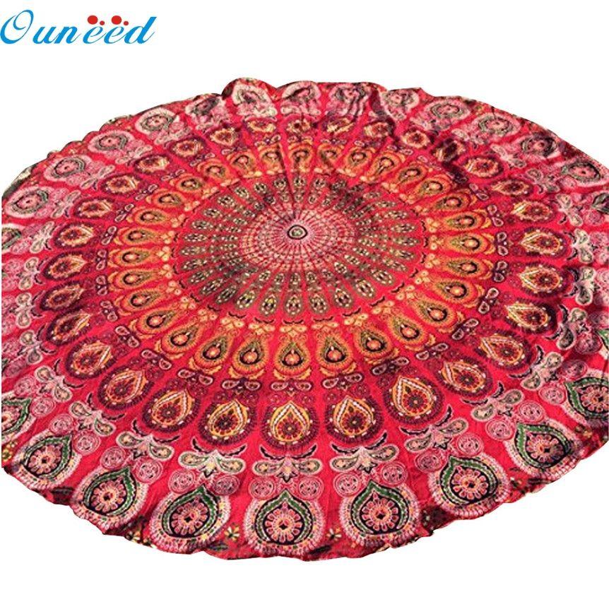 Ouneed heißer verkauf schöne druck Toilette Bohemian Hippie Tapisserie Strand Werfen Roundie Mandala Handtuch Yoga-Matte Jul13