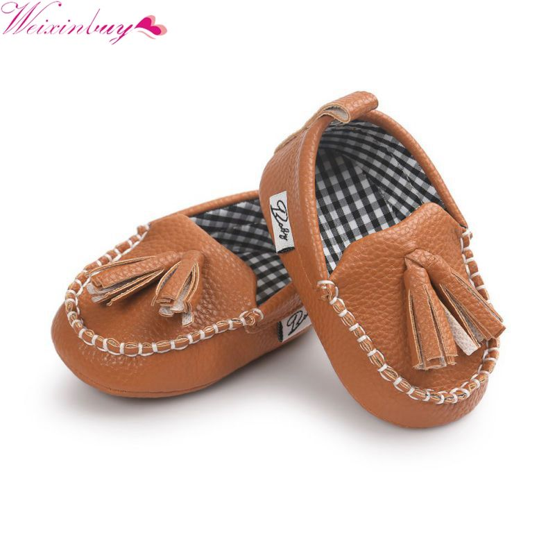 Baby Shoes Soft Sole Tassel PU Leather Newborn Baby Shoes Infant Boy Girl Toddler Moccasin 0-18M
