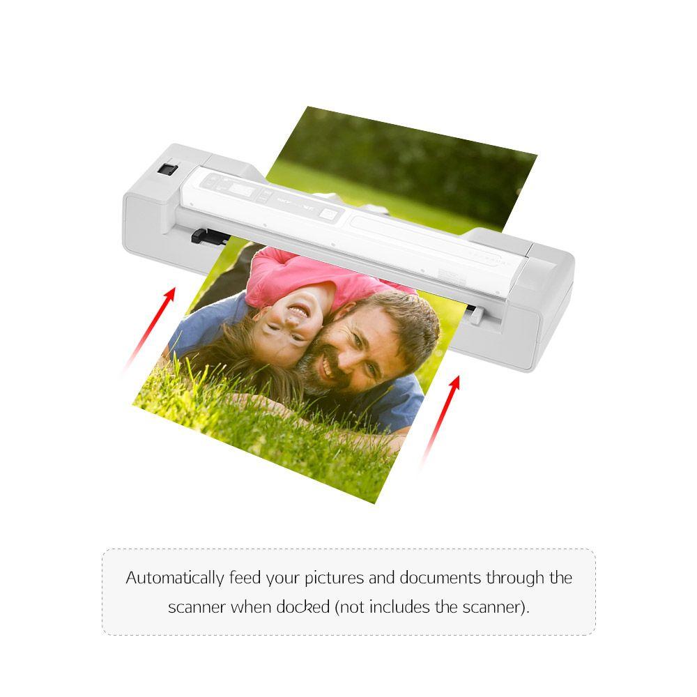 Portable Wand Scanner Base Auto Feed Dock 1200DPI for Skypix TSN450/ TSN470 File Scanner photos paper school teacher office
