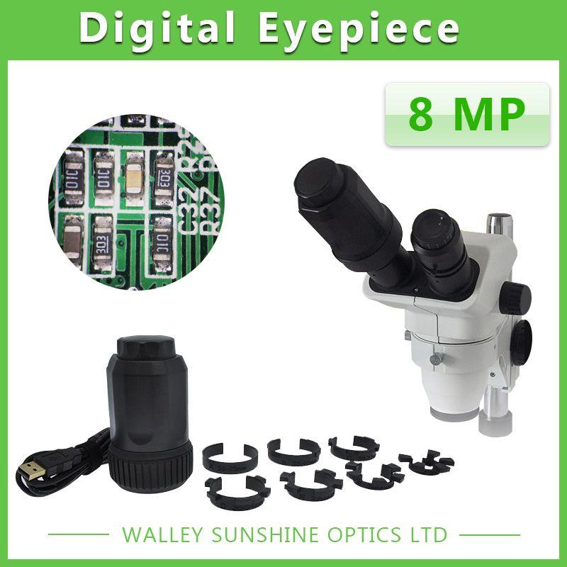 Mise Au Point automatique 8MP Télescope Microscope Électronique Oculaire USB Vidéo CMOS Caméra Industrielle Numérique Oculaire Capture D'image 8.0MP