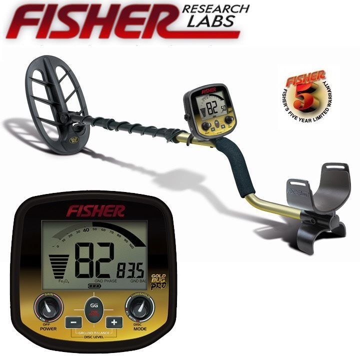 FISHER RESEACH LABS Gold Bug Pro Gold Silver TreasureProfessional Underground Metal Detector Digger Long Distance Double Coin