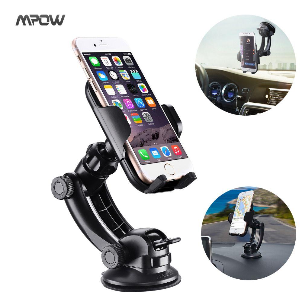 Steering-Wheel MCM12 Mpow Car Mount Grip Pro 2 Dashboard Adjustable Car Phone Holder Universal Cradle Windshield Holder Cradle