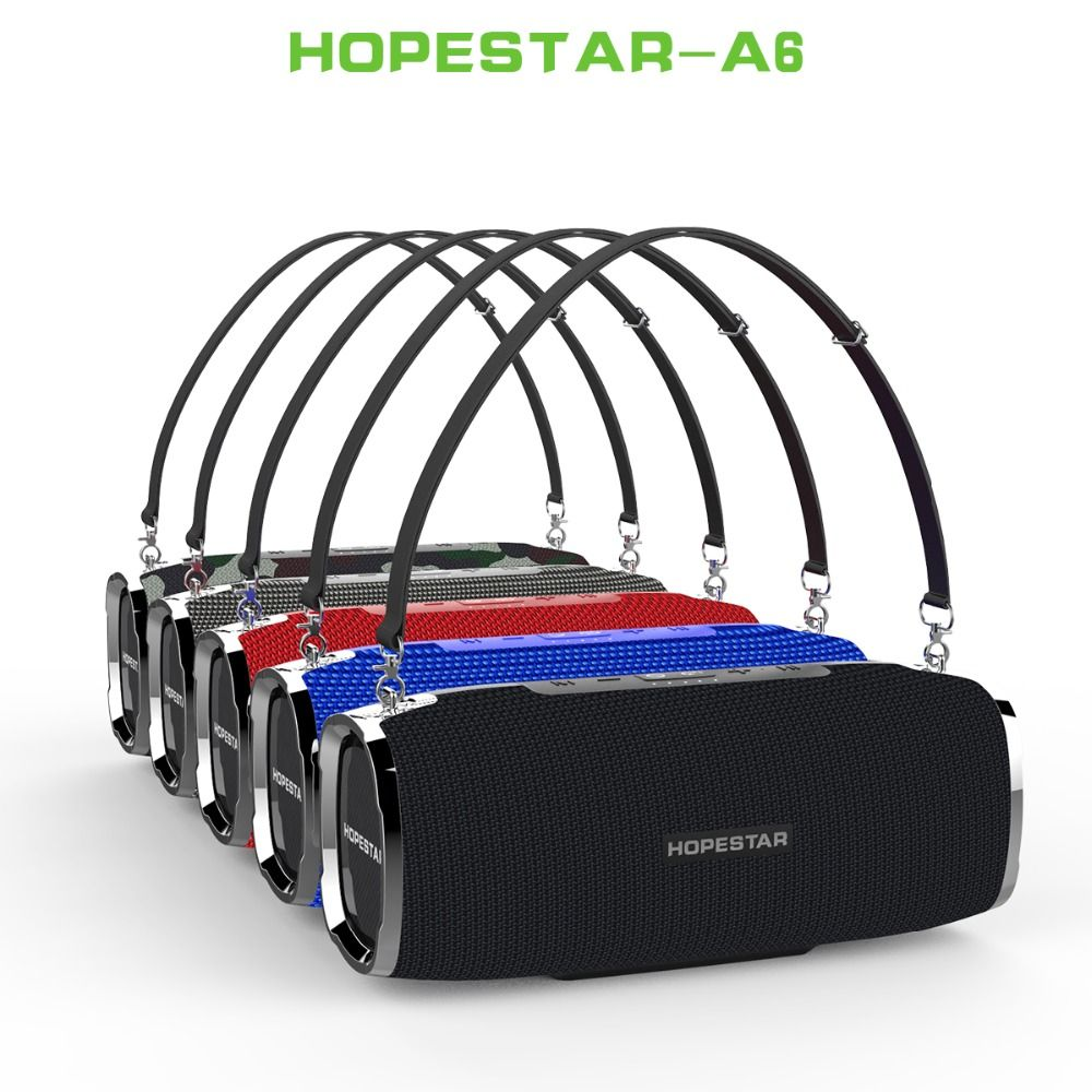 35 W Wasserdichte A6 Bluetooth Lautsprecher Schwere Bass Spalte Subwoofer outdoor Tragbare Drahtlose Lautsprecher Stereo mit Power Bank