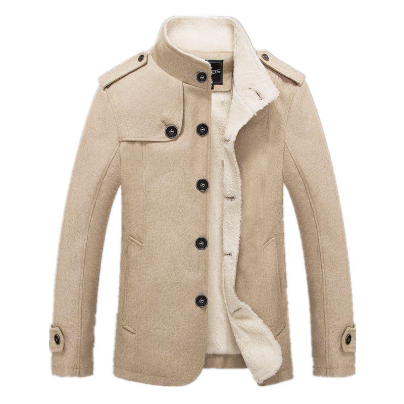Bolubao Neue Männer Wollmischungen Mode Winterjacke Männer Fleece Gefüttert Mantel Männlichen Wollmantel Peacoat Sobretudo Masculino