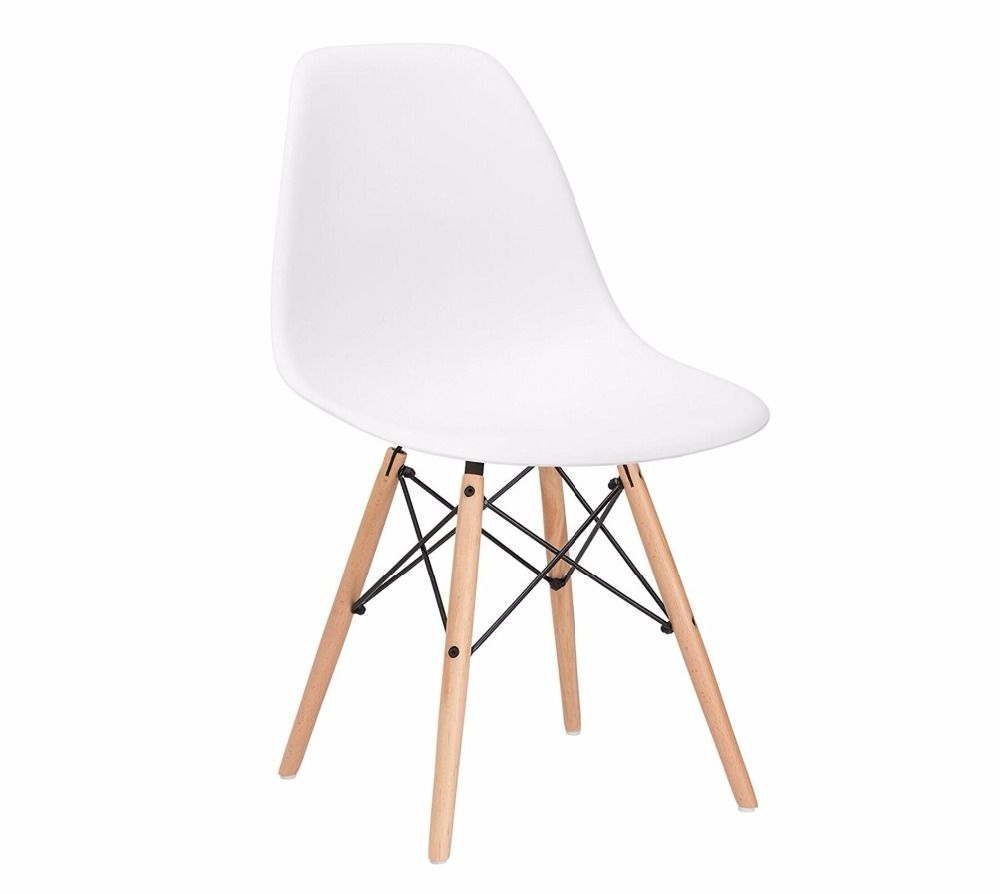 4 Pieces Of Set RU Stock Lanskaya Plastic Modern Minimalist Dining Chairs Furniture Chair Stool Design Modern Leisure