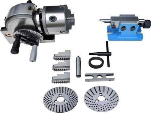 ECO Halb 5 Indizierung Teilung Spirale Kopf 3-backen Magnetspannplatte Reitstock CNC Fräsen Neue