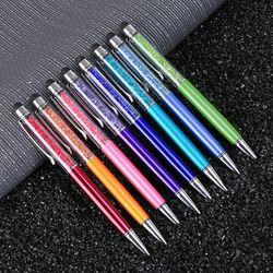 20 couleurs Cristal Stylo À Bille De Mode Creative Stylet Tactile Stylo pour papier à Lettres Bureau et D'école Stylo Bille Noir Bleu