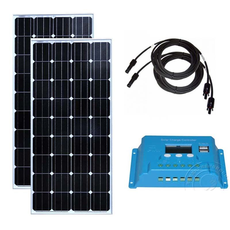 Kit Solaire 300 Watt Solar Panel 18 v 150 watt 2 stücke Solar Laderegler 12 v/24 v 10A Caravan Auto Camp Rv Chargeur Solaire