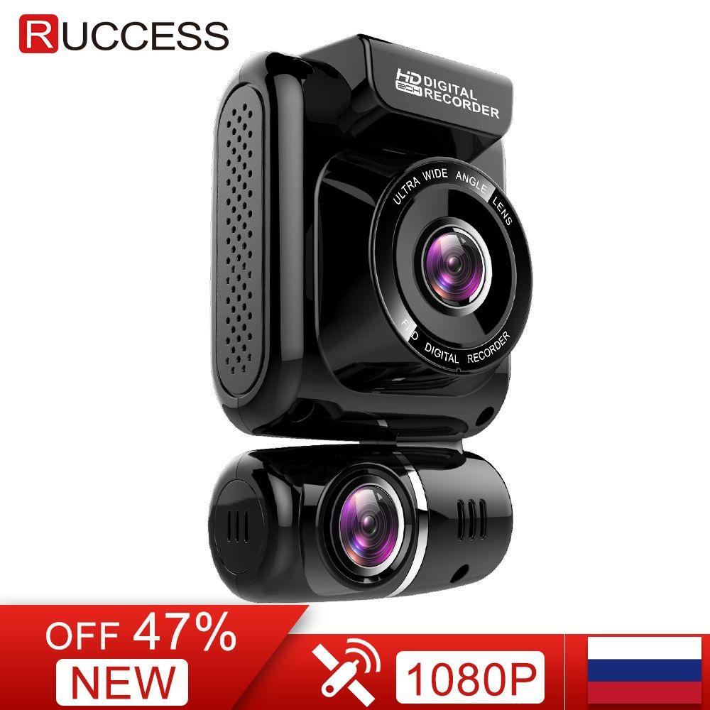 Ruccess GPS AUTO DVR Dual Lens Dash Cam Full HD 1920*1080 P Vorne und Hinten Auto Kamera Recorder für Auto Nachtsicht G-sensor WDR