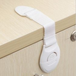 Drawer Door Cabinet Cupboard Toilet Safety Locks Baby Kids Safety Care Plastic Locks Straps Door Drawers Infant Baby Protection