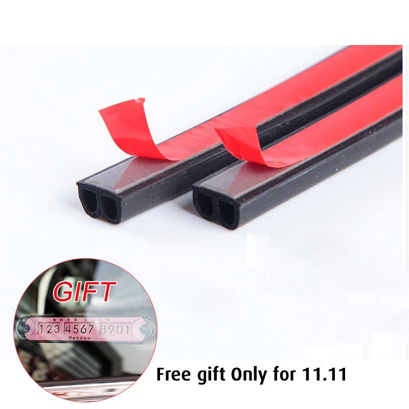 25M Double D Type Car Rubber Seal Strip Windproof Anti-Noise Dustproof Door Sealing Strips Car Styling Weatherstrips Door Seal