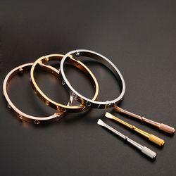 Vente chaude 316L titane acier amour bracelet bracelet pour femmes hommes logo Original bracelet manchette bracelet Bijoux Pulseira Cadeau