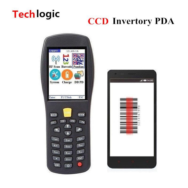 Techlogic Q7 CCD Wireless Inventory Barcode Scanner Code Reader Hand Terminal PDA Supermarket and Warehouse Portable Bar Gun