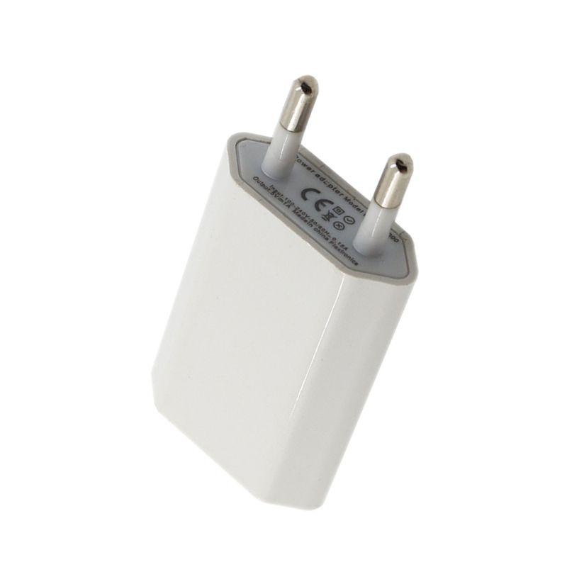1A ЕС Путешествие стены Зарядное устройство USB кабель Зарядное устройство для iPhone 4/4S 5/5S 6 s/6 7 Plus 8 Plus X мобильный телефон для быстрой зарядки AC А...