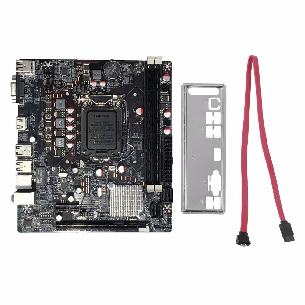 Professional H61 Desktop Computer Mainboard Motherboard 1155 Pin CPU Interface Upgrade USB3.0 DDR3 1600/1333